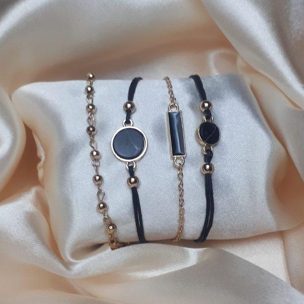 boho charm bracelets gold