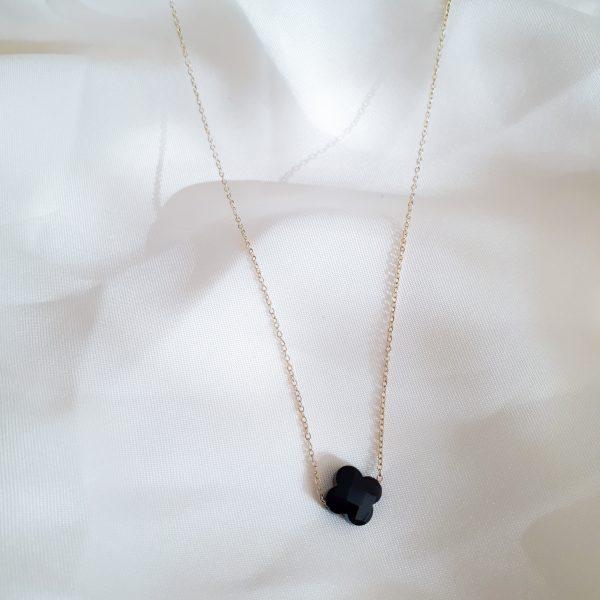 black clover necklace gold