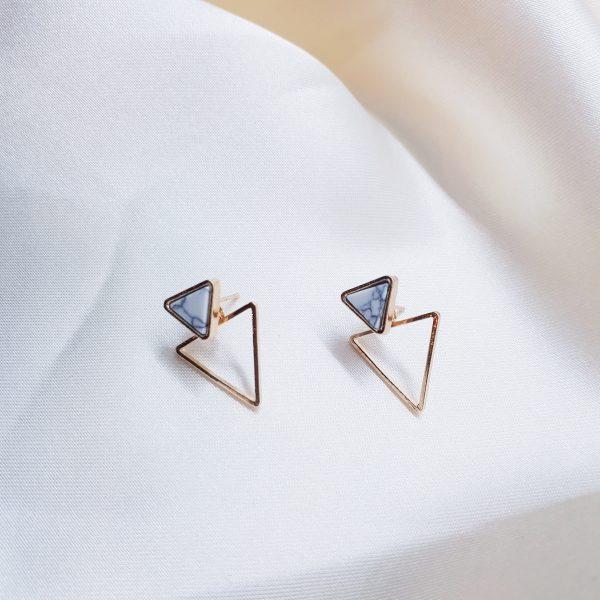 driehoekige stud oorbellen