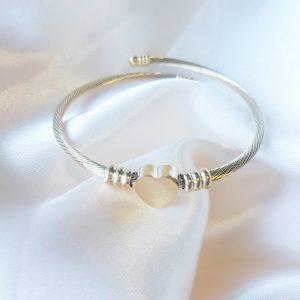 Heart bracelet gold