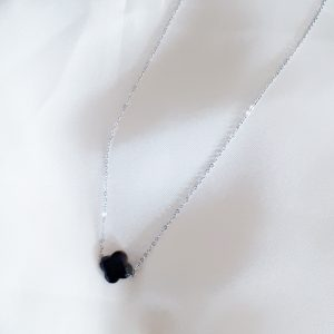 black clover necklace silver