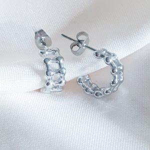 schakel oorbellen zilver