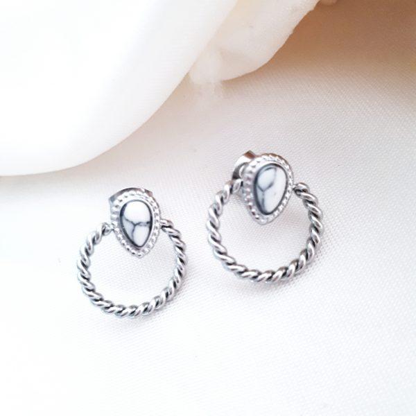 cirkelvormige oorsteker zilver