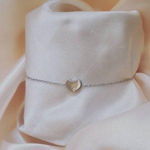 minimalistische hart armband zilver