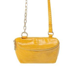 tas crocbody geel