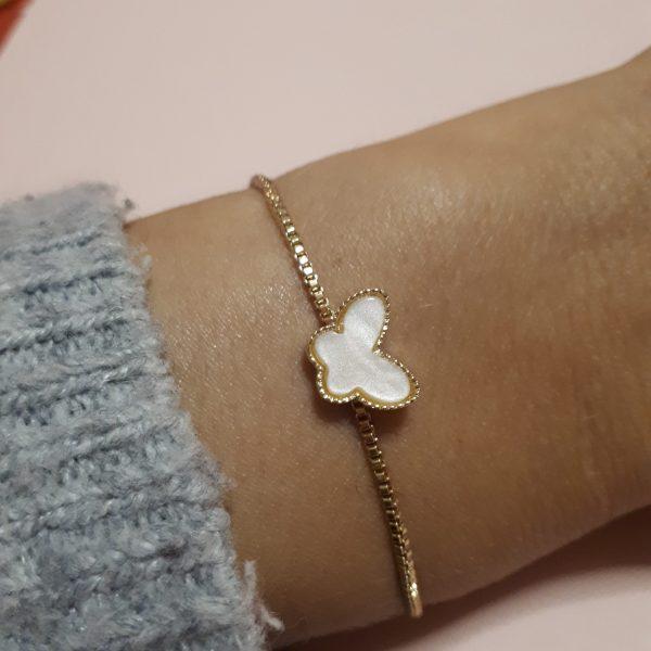 Butterfly bracelet gold