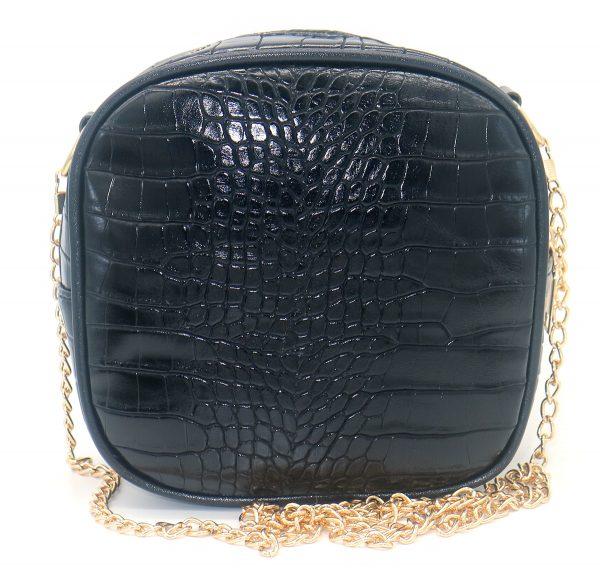 crossbody bag croco black