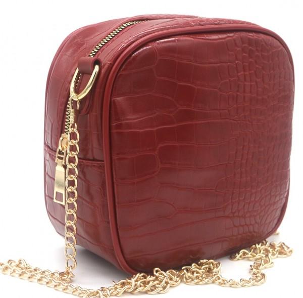 crossbody bag croco red