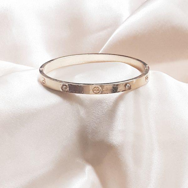 Cartier strass bangle gold