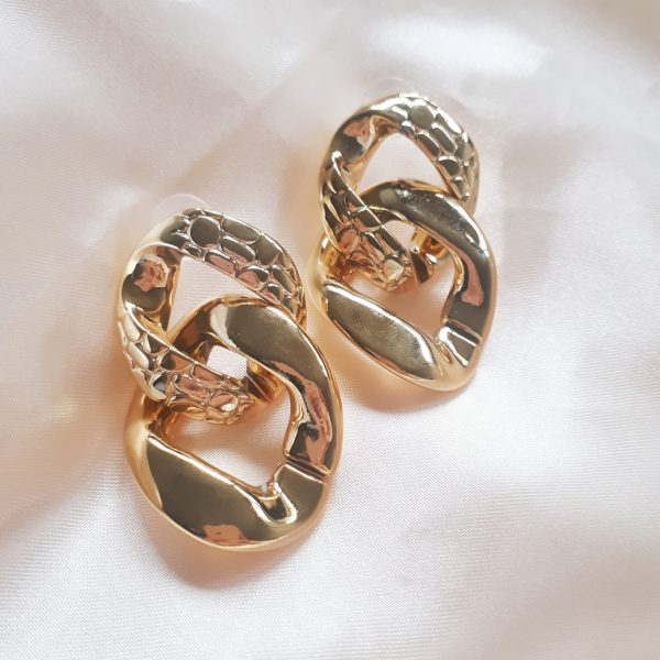 Chain Earrings Gold