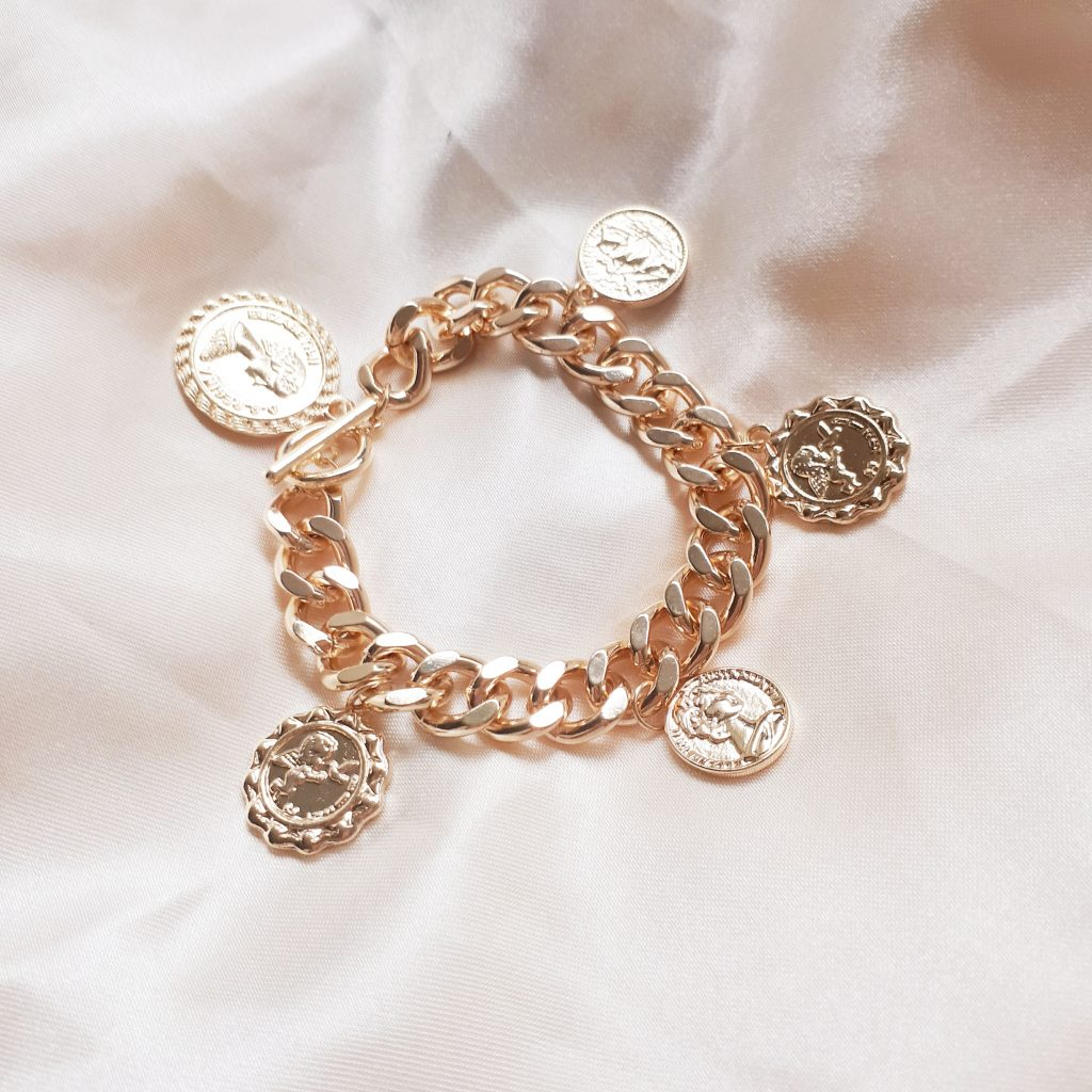 coin chain bracelet
