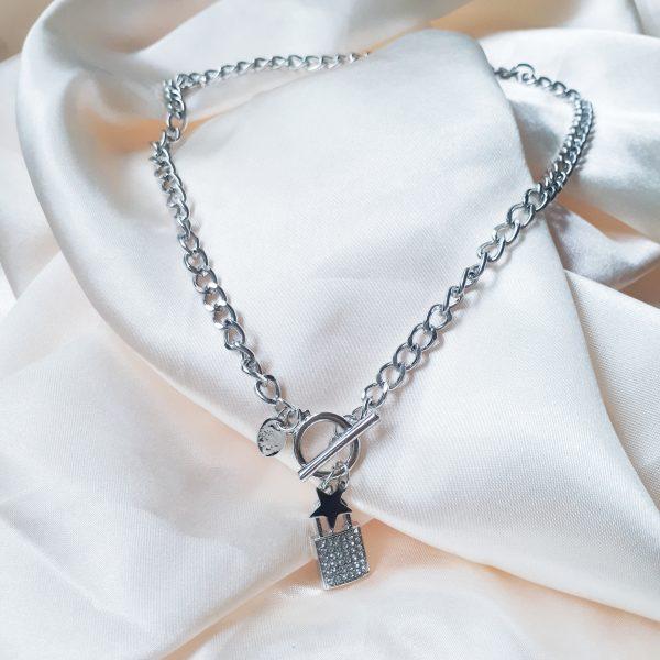 Strass Lock Necklace