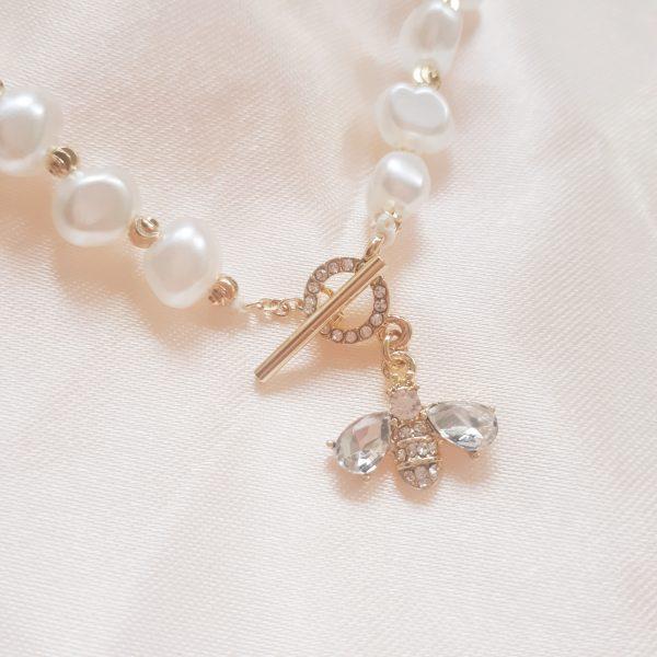 Pearl Bee Bracelet