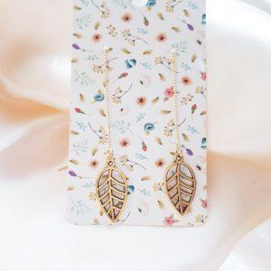 leaf earrings