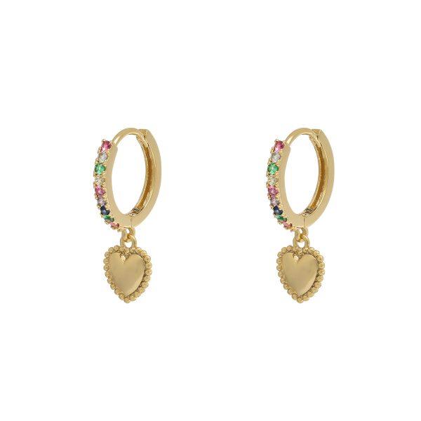 earrings lovely gold