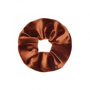scrunchie seet velvet bruin
