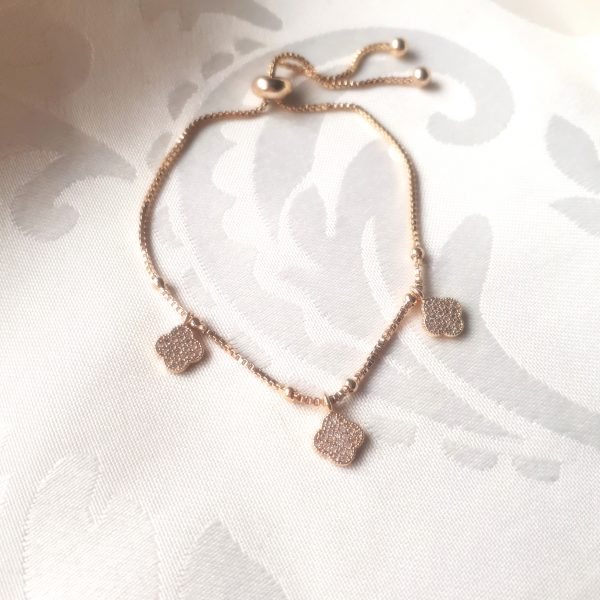 clover bracelet gold
