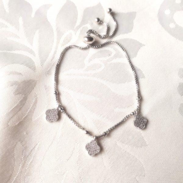 clover bracelet silver