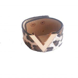 leopard bracelet beige