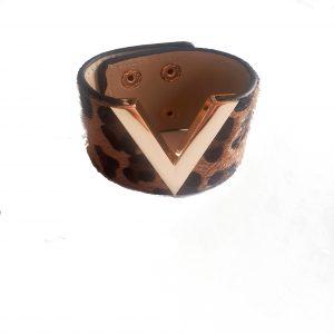leopard bracelet brown