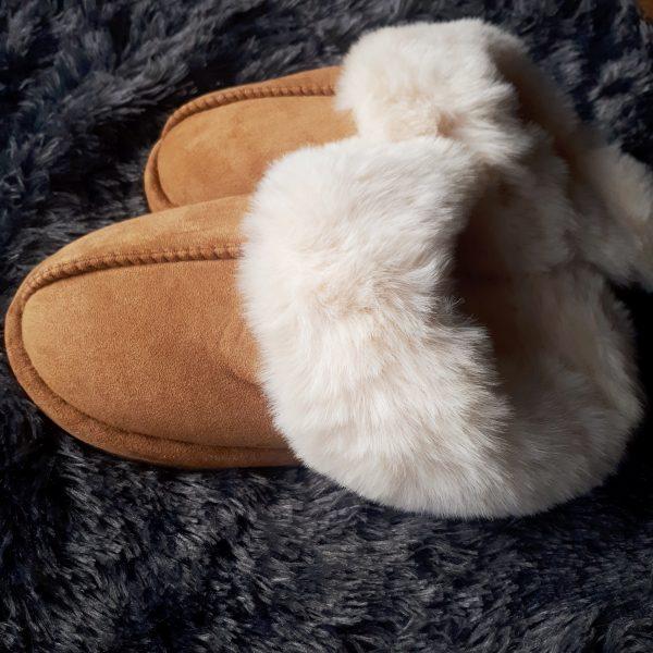 nowi pantoffels hazelnoot