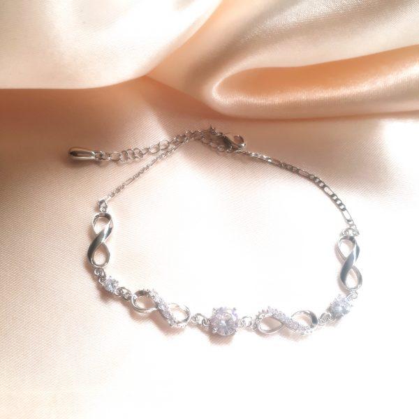 infinity strass bracelet silver
