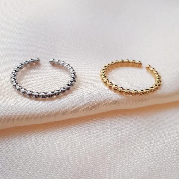 steel pearls ring