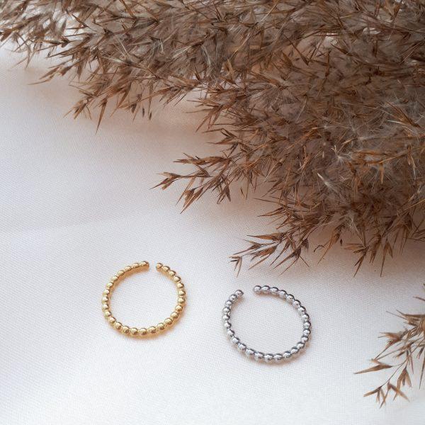 steel pearl ring