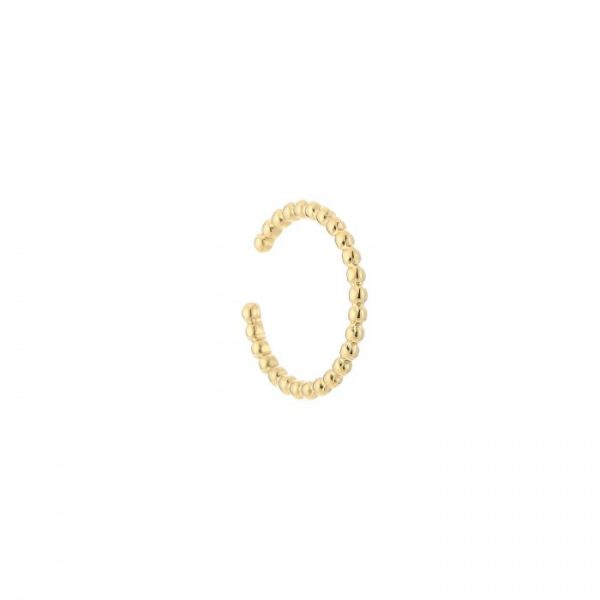 steel pearls ring gold