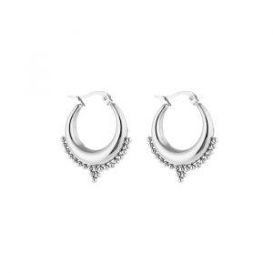 bali hoop earrings silver