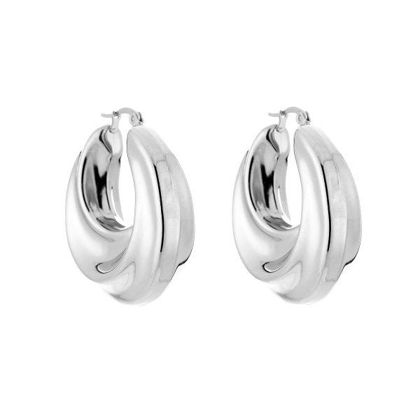 chunky hoops silver