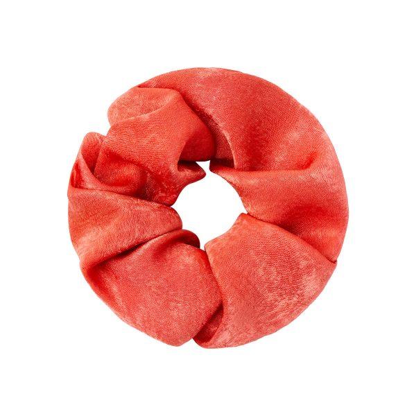 Scrunchie satin feel rood