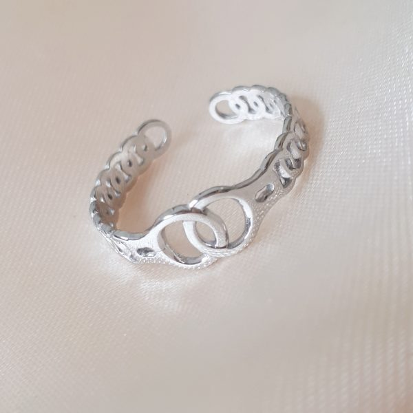 locked ring silver