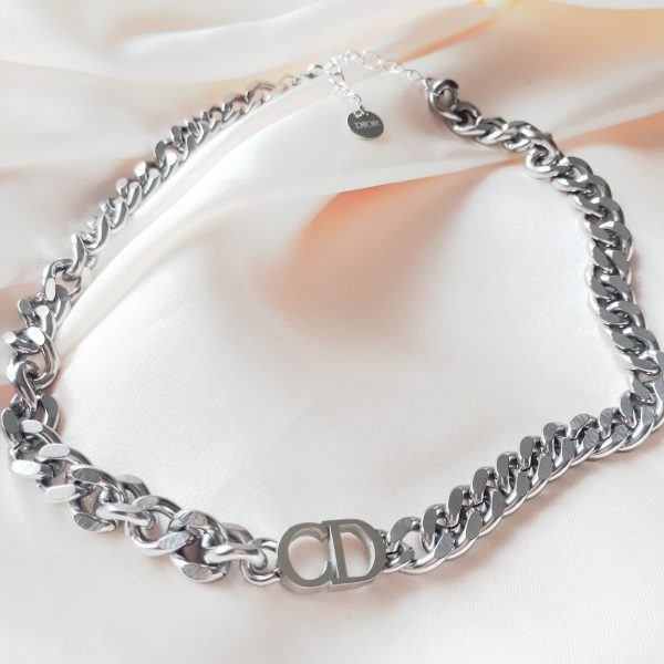 chr!st!an d!or necklace silver