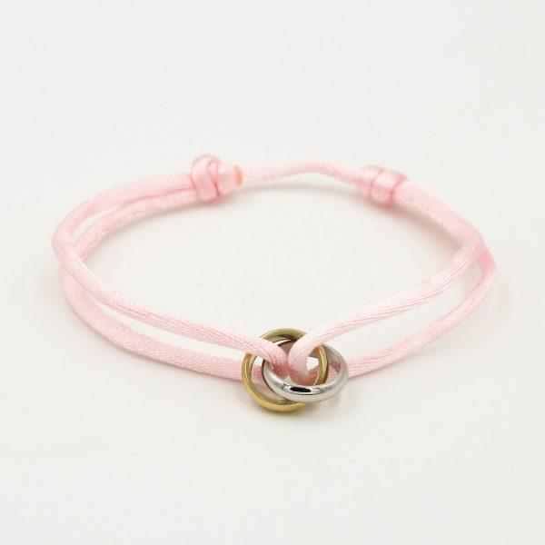 duo ring bracelet pink