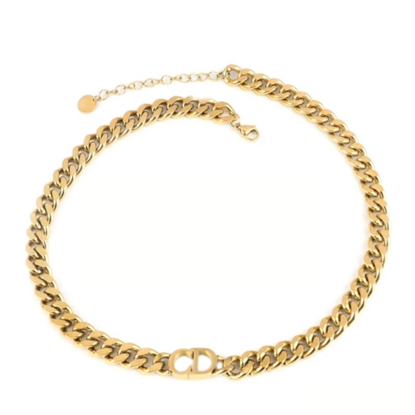 Chr!st!an D!or Necklace gold