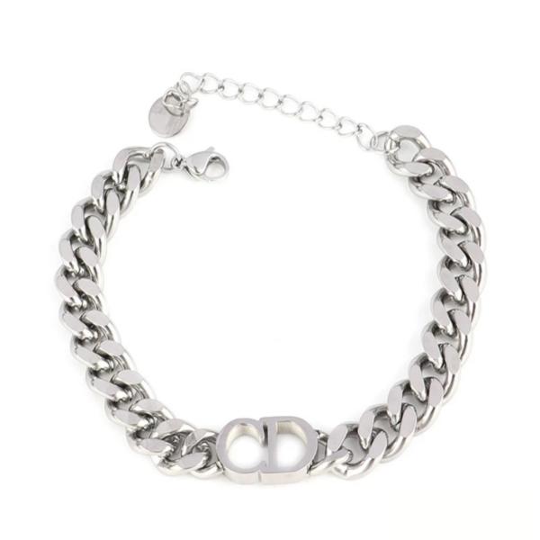 chr!st!an d!or bracelet silver