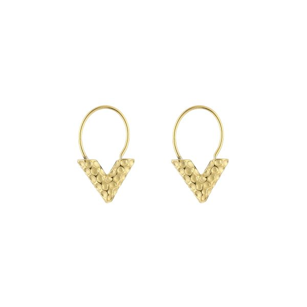 v earrings gold