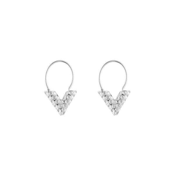 v earring silver