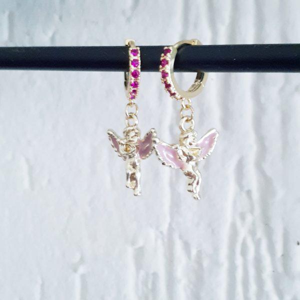 guardian angel strass earrings