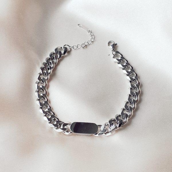 chunky chain bracelet silver