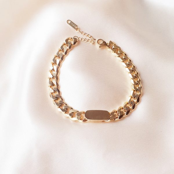 chunky chain bracelet gold