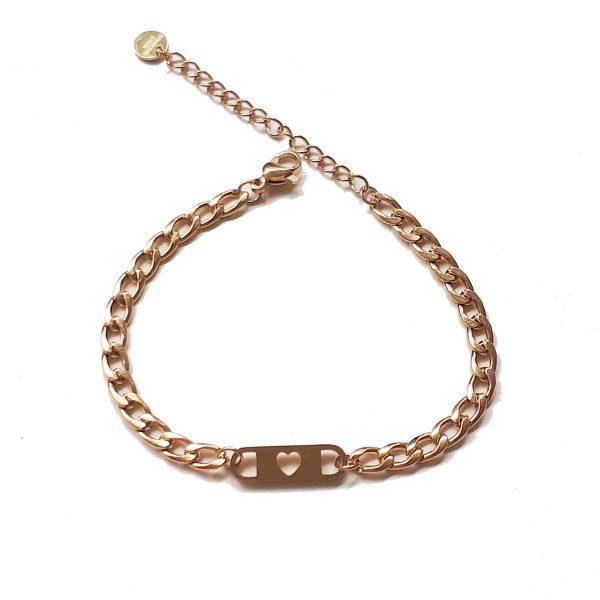 love chain bracelet gold