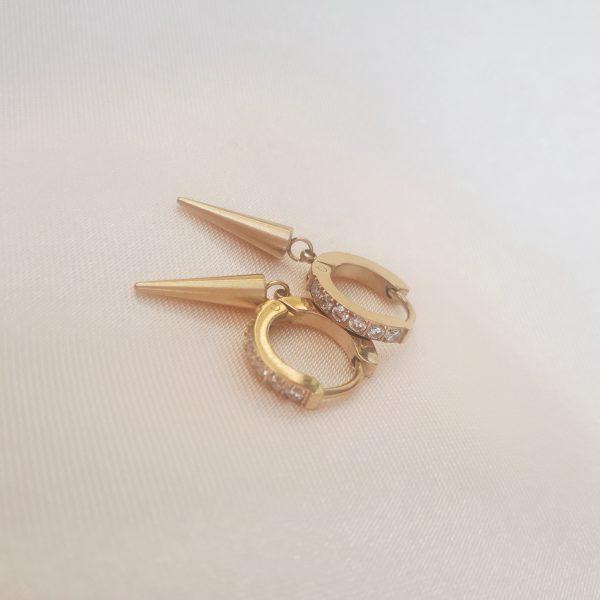 diamant spike earrings