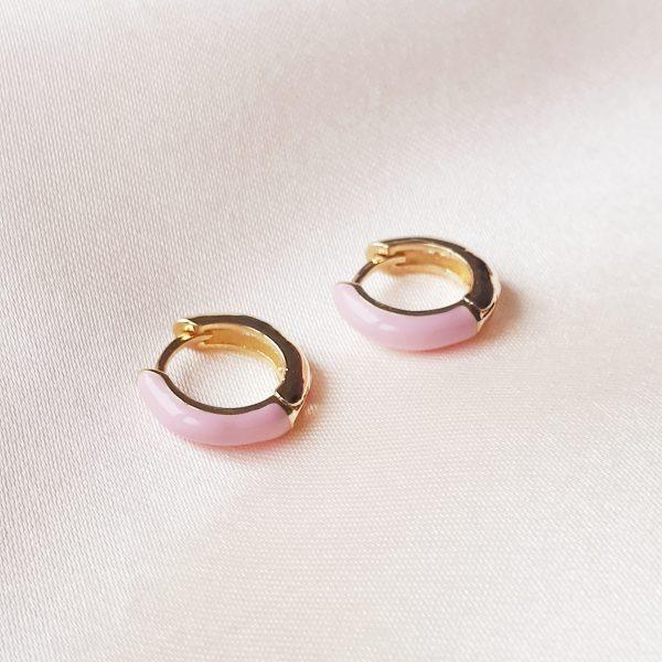 color earrings roze