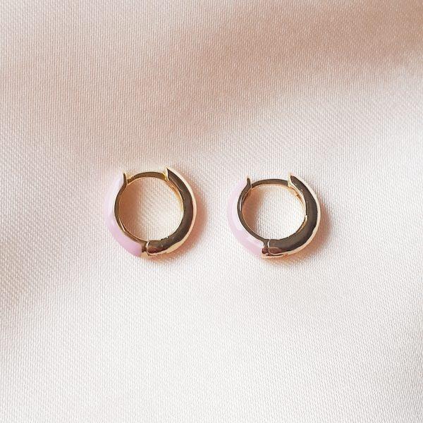 ccolor earrings roze