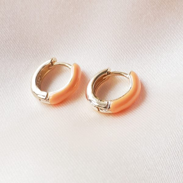 color earrings orange