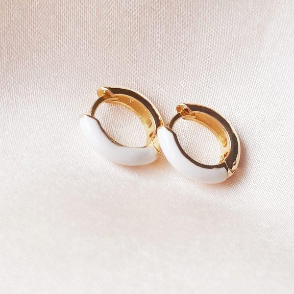 color earrings white