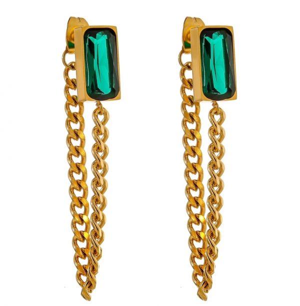 elegance chain earrings