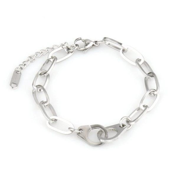 locked bracelet silver